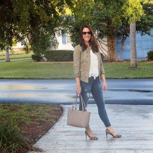 Feminine Lace With Military Chic - Sunny Coastlines Style Blog