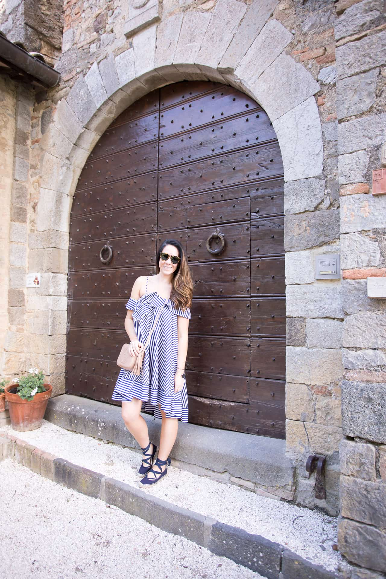Blue and White Stripes in Tuscany