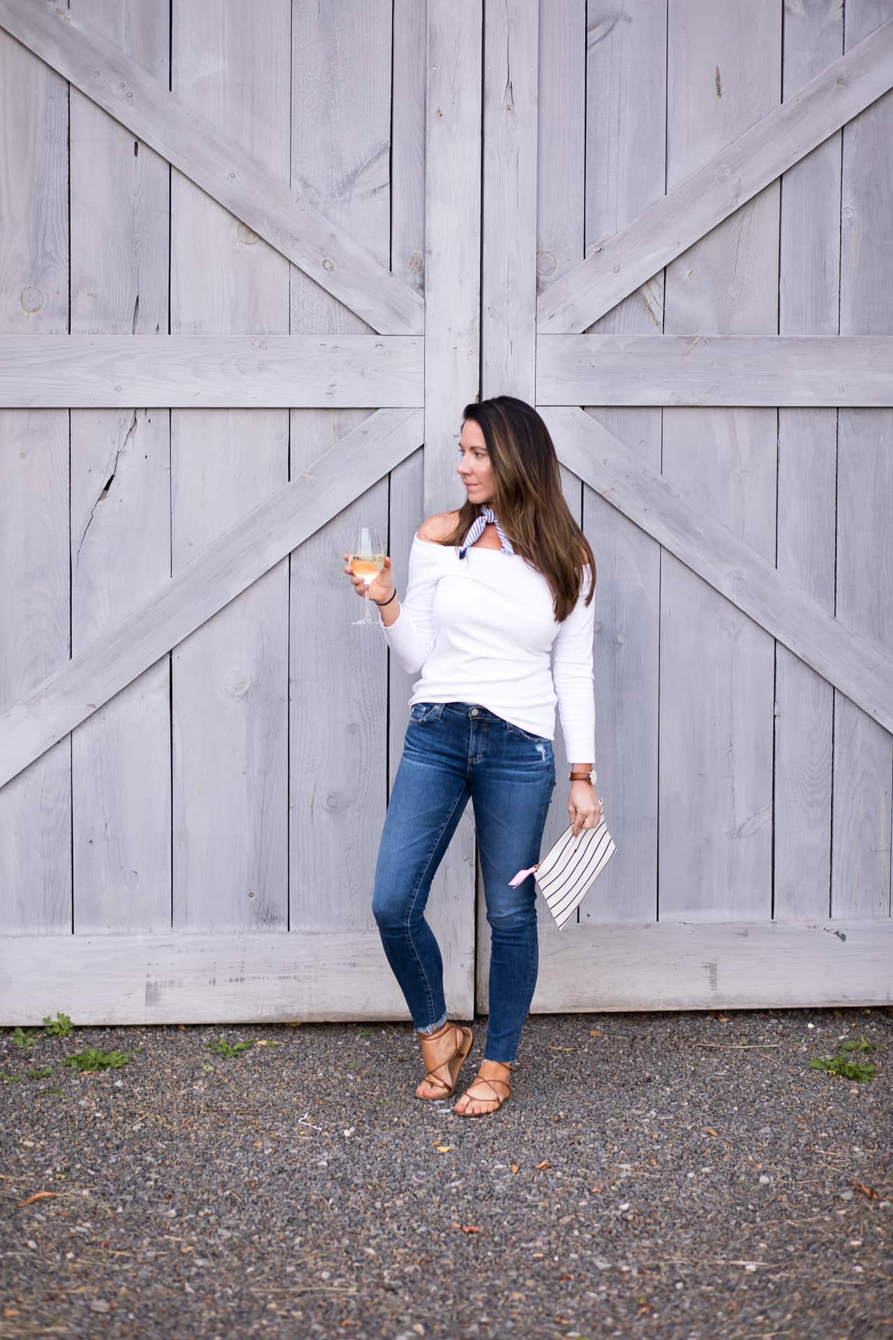 Off the Shoulder Tops, Wine, and a Farm