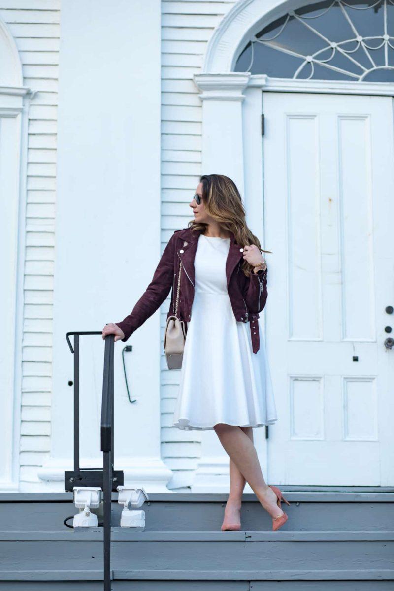 White + Burgundy, a Fall Combination With Cotton Canary